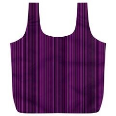 Deep Purple Lines Full Print Recycle Bags (l)  by Valentinaart