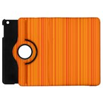 Orange pattern Apple iPad Mini Flip 360 Case Front