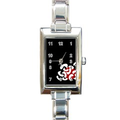 Elegant Abstraction Rectangle Italian Charm Watch