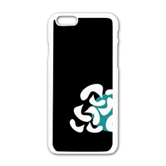 Elegant Abstraction Apple Iphone 6/6s White Enamel Case by Valentinaart