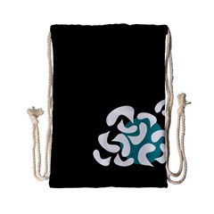 Elegant Abstraction Drawstring Bag (small) by Valentinaart