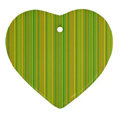 Green Lines Ornament (heart) by Valentinaart