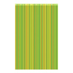 Green Lines Shower Curtain 48  X 72  (small)