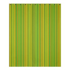 Green Lines Shower Curtain 60  X 72  (medium)  by Valentinaart