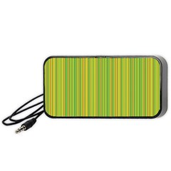 Green Lines Portable Speaker (black) by Valentinaart
