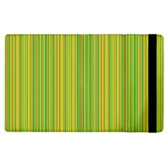 Green Lines Apple Ipad 2 Flip Case