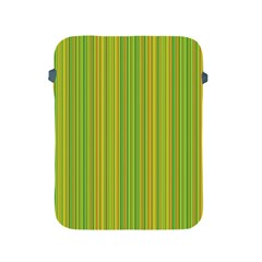 Green Lines Apple Ipad 2/3/4 Protective Soft Cases by Valentinaart