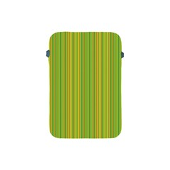 Green Lines Apple Ipad Mini Protective Soft Cases by Valentinaart