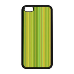 Green Lines Apple Iphone 5c Seamless Case (black) by Valentinaart