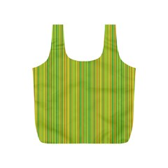 Green Lines Full Print Recycle Bags (s)  by Valentinaart
