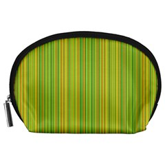 Green Lines Accessory Pouches (large)  by Valentinaart