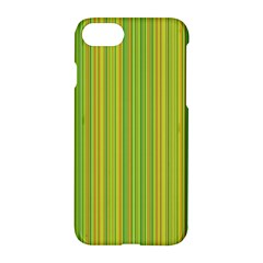 Green Lines Apple Iphone 7 Hardshell Case by Valentinaart