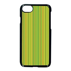 Green Lines Apple Iphone 7 Seamless Case (black) by Valentinaart