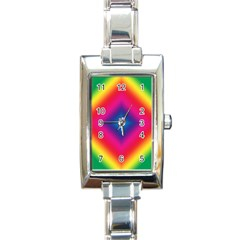 Hippie  Rectangle Italian Charm Watch by Valentinaart