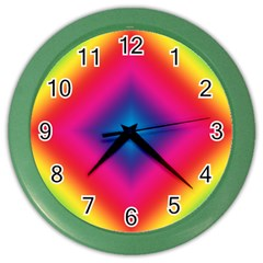 Hippie  Color Wall Clocks by Valentinaart