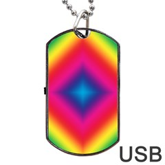 Hippie  Dog Tag Usb Flash (one Side) by Valentinaart