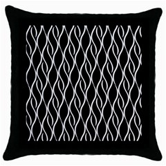 Elegant Black And White Pattern Throw Pillow Case (black) by Valentinaart