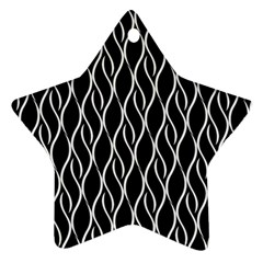 Elegant Black And White Pattern Star Ornament (two Sides) by Valentinaart