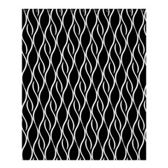 Elegant Black And White Pattern Shower Curtain 60  X 72  (medium)  by Valentinaart