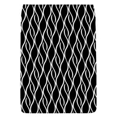 Elegant Black And White Pattern Flap Covers (l)  by Valentinaart