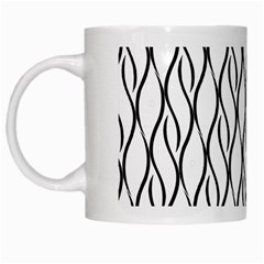 Black And White Elegant Pattern White Mugs by Valentinaart