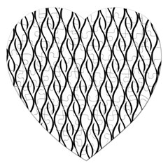 Black And White Elegant Pattern Jigsaw Puzzle (heart) by Valentinaart