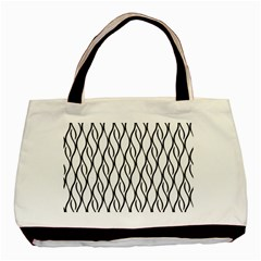 Black And White Elegant Pattern Basic Tote Bag (two Sides) by Valentinaart