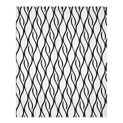 Black And White Elegant Pattern Shower Curtain 60  X 72  (medium)  by Valentinaart