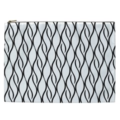 Black And White Elegant Pattern Cosmetic Bag (xxl)  by Valentinaart