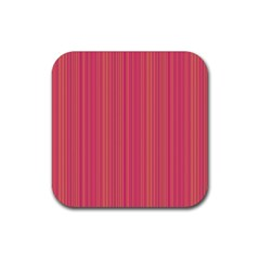 Elegant Lines Rubber Square Coaster (4 Pack)  by Valentinaart