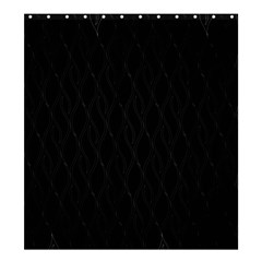 Black Pattern Shower Curtain 66  X 72  (large)