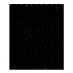 Black Pattern Shower Curtain 60  X 72  (medium)  by Valentinaart
