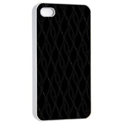 Black Pattern Apple Iphone 4/4s Seamless Case (white)