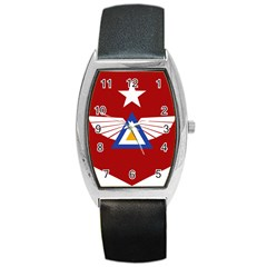 Emblem Of The Myanmar Air Force Barrel Style Metal Watch by abbeyz71
