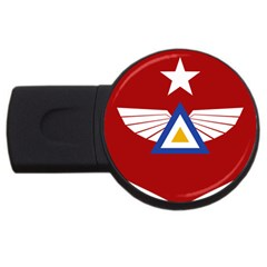 Emblem Of The Myanmar Air Force Usb Flash Drive Round (4 Gb)