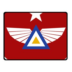 Emblem Of The Myanmar Air Force Fleece Blanket (small) by abbeyz71