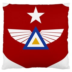 Emblem Of The Myanmar Air Force Large Flano Cushion Case (one Side) by abbeyz71