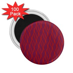 Red Pattern 2 25  Magnets (100 Pack)  by Valentinaart