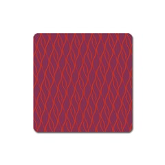 Red Pattern Square Magnet by Valentinaart