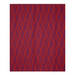 Red Pattern Shower Curtain 60  X 72  (medium)  by Valentinaart
