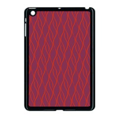 Red Pattern Apple Ipad Mini Case (black) by Valentinaart