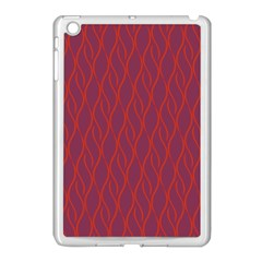 Red Pattern Apple Ipad Mini Case (white) by Valentinaart