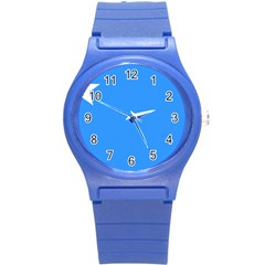 Flag Of The Myanmar Air Force Round Plastic Sport Watch (s) by abbeyz71
