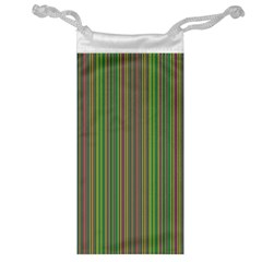 Green Lines Jewelry Bag by Valentinaart