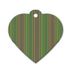 Green Lines Dog Tag Heart (one Side)
