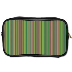 Green Lines Toiletries Bags 2 Side by Valentinaart