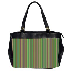Green Lines Office Handbags (2 Sides)  by Valentinaart