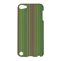 Green Lines Apple Ipod Touch 5 Hardshell Case by Valentinaart