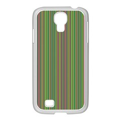 Green Lines Samsung Galaxy S4 I9500/ I9505 Case (white) by Valentinaart