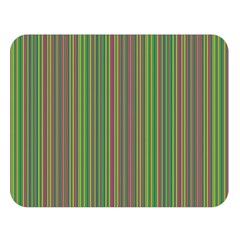 Green Lines Double Sided Flano Blanket (large)